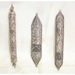 Silver Filigree Mezuza
