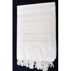 Tallit with White stripes