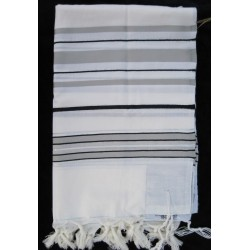 Tallit with Grey stripes