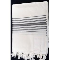 "Special weaving Tallit ""Tiferet"" design (Grey / Silver)"