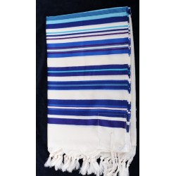 "Beautiful Tallit- "" Bney Or"" design (Blue)"