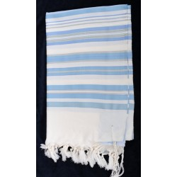 "Beautiful Tallit- "" Bney Or"" design (Light Blue)"