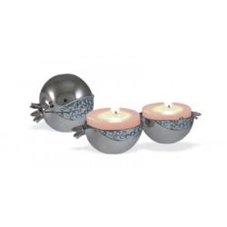 Travel Candlesticks- Pomegranate design
