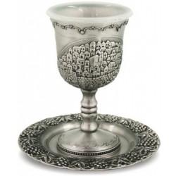 Kiddush Cup- Jerusalem design