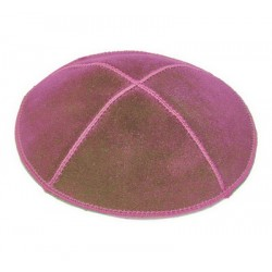 Dark Red Suede Kippah