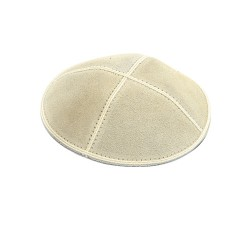 Suede Off White Kippah