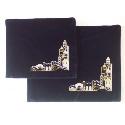 Velvet Jerusalem talit & tefilin bag set