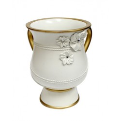 Decorated White Washing Cup