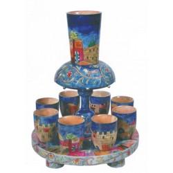 Wooden Kidush fountain - Jerusalem design