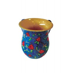 Wooden Washing Cup - Pomegranate design