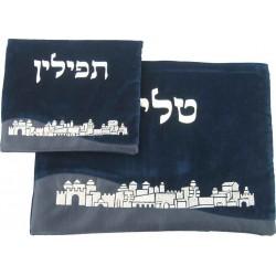 leather Talit & Tefilin bag- Jerusalem