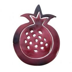 Double Aluminum Trivet- Pomegranate design (Maroon)