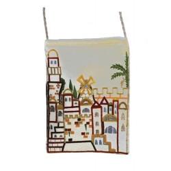Passport Bag- White Jerusalem Design