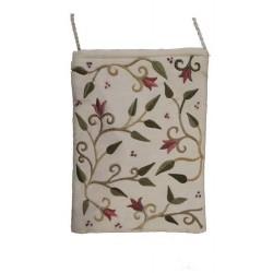 Passport Bag- White Flowers Design