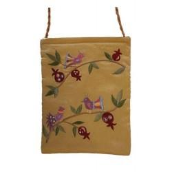 Passport Bag- Gold Pomegranate Design