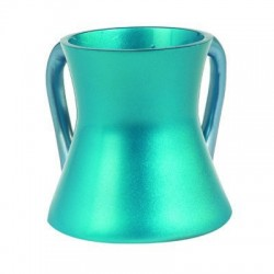 Metal washing cup- Turquoise