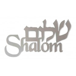 "Wall hanging letters- ""Shalom"" (Hebrew+ English)"
