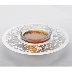 White Metal Honey dish- Flowers design