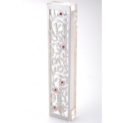 "Metal Mezuzah– ""Pomegranate"" design"