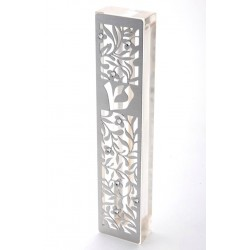 "Metal Mezuzah– ""Flowers"" design"