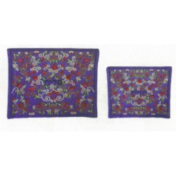 Embroidered Pomegranare design Talit & Tefilin bag
