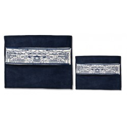 Tallit & Tefilin bag- Beautiful Jerusalem Sky Line design (Blue)