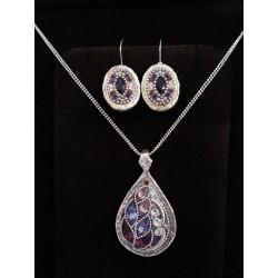 Handmade Unique piece of jewelry - Purple
